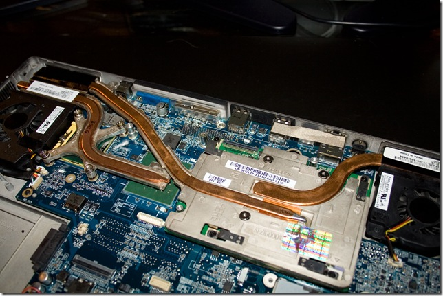 CPU heatpipe and new (used) FX2500m all installed