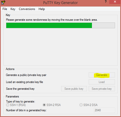 """Generate SSH Keys in PuTTY"""